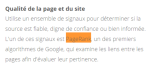 Le PageRank n'est pas mort pour Google