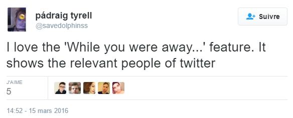 Pro algorithme dans Twitter