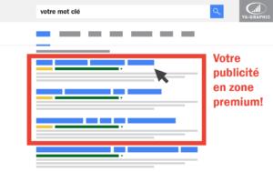 Votre publicité en zone premium de Google