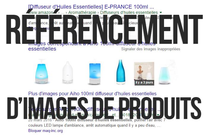 Recherche d'images de produits dans Google Search