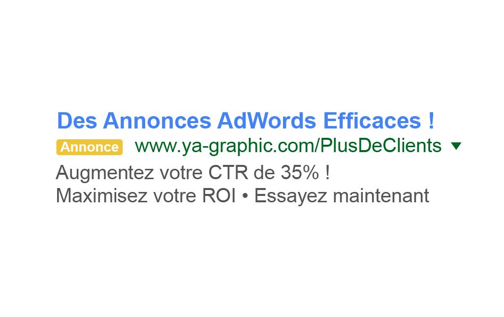 Des annonces AdWords efficaces