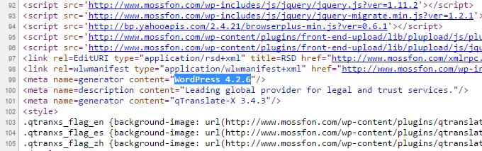 Version obsolète de WordPress