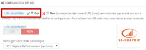 URL rewriting site e-commerce Prestashop