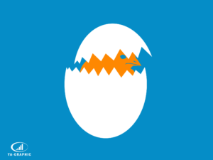 Naissance d'un poussin : analogie au lancement d'une nouvelle boutique en ligne - chez Ya-graphic