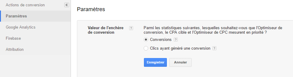 """La valeur """"Clics convertis"""" remplacée par """"Conversions"""""""