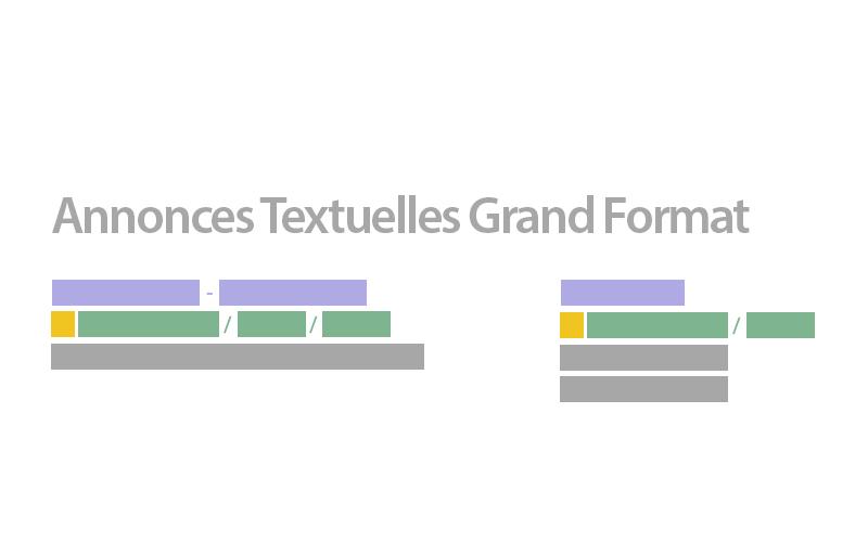 Annonces textuelles grand format