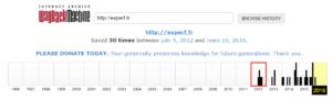 Le site Experf.fr dans Archive.org