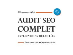 Audit SEO Complet - chez Ya-graphic