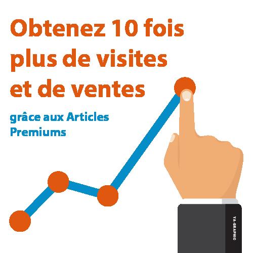 10 fois plus de visites et de ventes avec les Articles Premiums