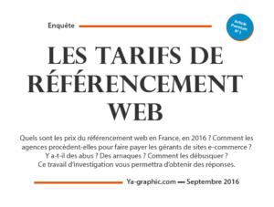 Les Tarifs de Référencement Web en France en 2016