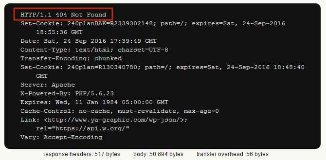 Traitement du code d'erreur 404