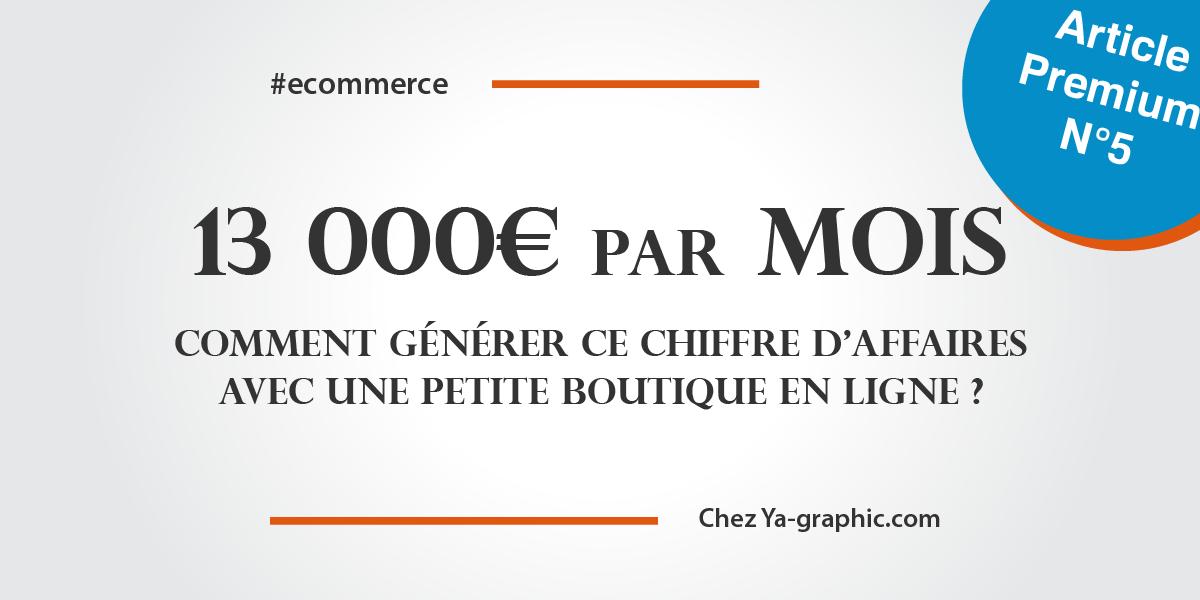 Gagner plus de 10 000€ de chiffre d'affaires avec une boutique en ligne