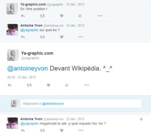 1ère position dans Google.fr