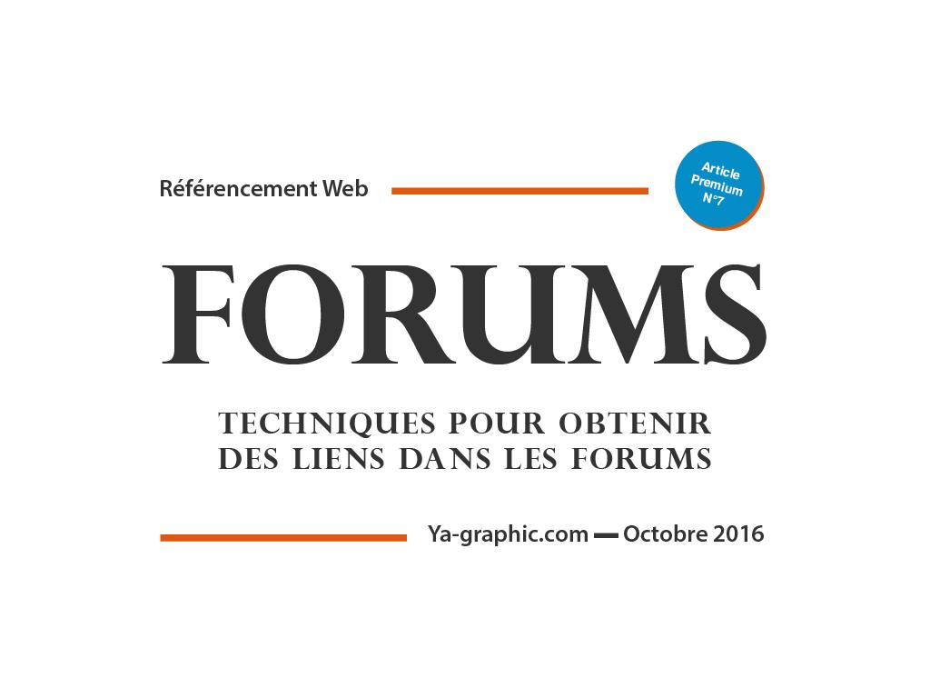 Techniques pour obtenir des liens dans les forums