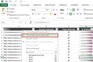 Classement des forums dans Excel