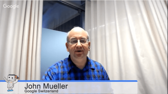 John Mueller, English Google Webmaster Central office-hours hangout