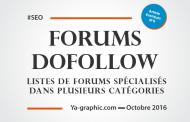 Listes de Forums avec Liens Dofollow