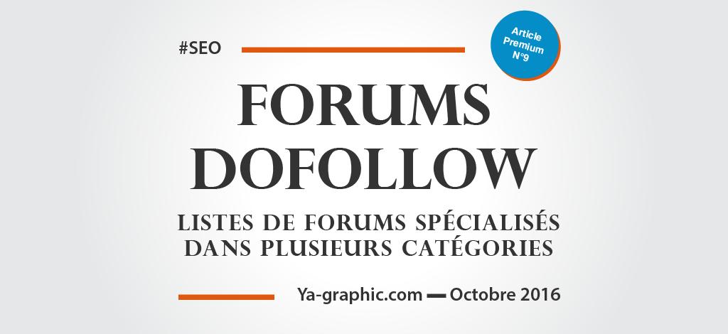 Listes de Forums DoFollow