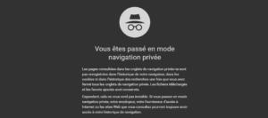 La navigation privée