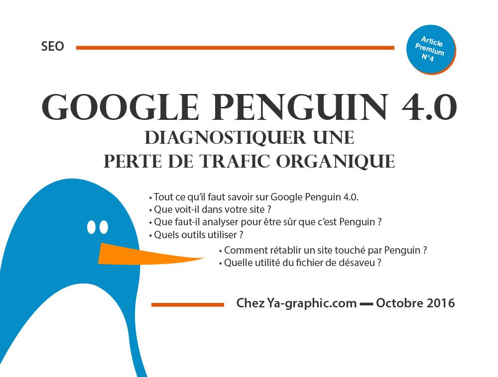 Google Penguin 4.0 - Perte de Trafic Organique - chez Ya-graphic