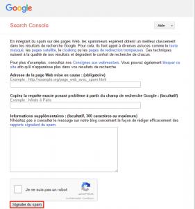 Signaler du spam dans Google