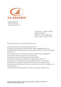 Exemple de questionnaire SEO