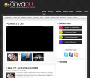 Page d'accueil du blog événementiel