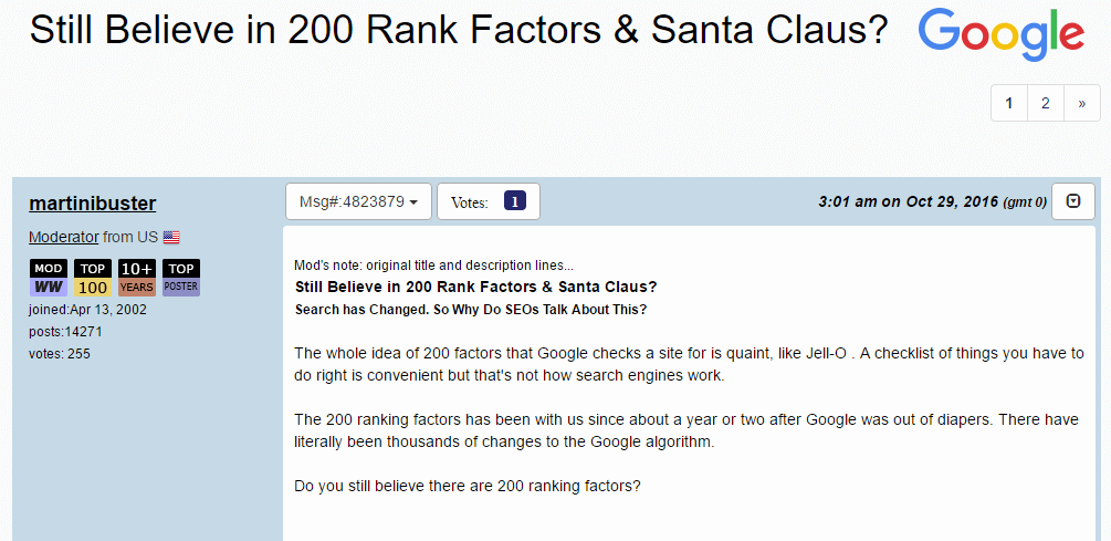 Croyez-vous aux 200 facteurs de référencement ?