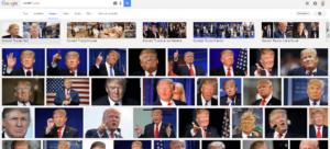 Donald Trump dans Google Images