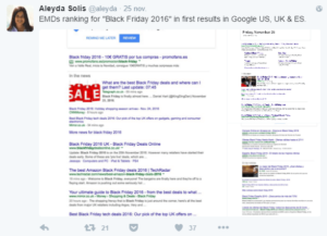 EMD Black Friday dans les résultats de Google Search