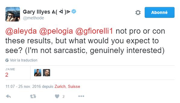 Tweet de Gary Illyes sur les EMD