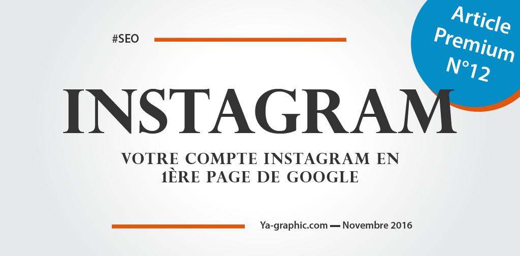 Compte Instagram en première page de Google