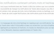 Twitter permet de masquer des mots clés, phrases et conversations