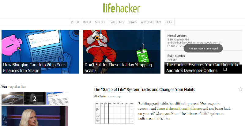 Lifehacker.com, le vrai site
