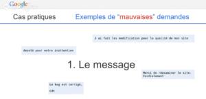 Mauvais messages que Google ne veut pas voir