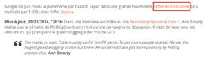 """Google pénalise la plateforme """"très connue"""" MyBlogGuest"""