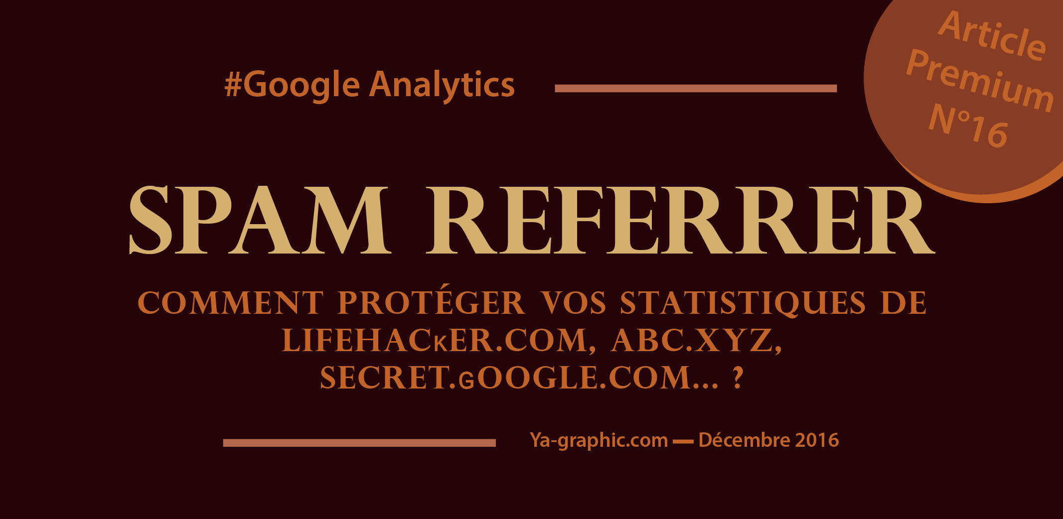 Filtre Google Analytics anti Spam Referrer