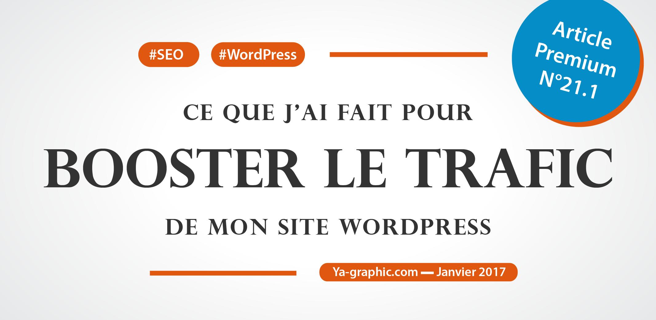 Ya-graphic : Comment j'ai boosté le trafic de mon site WordPress en 6 jours