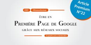 Première page de Google grâce aux réseaux sociaux (Article Premium chez Ya-graphic)