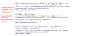 Les titres affichés dans les résultats de recherche de Google.fr