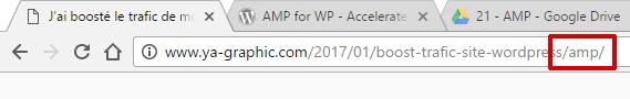 Ajouter /amp/ à la fin de votre URL