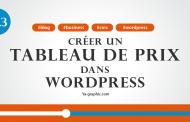 Créer un tableau de prix dans WordPress (Module n°12.3)