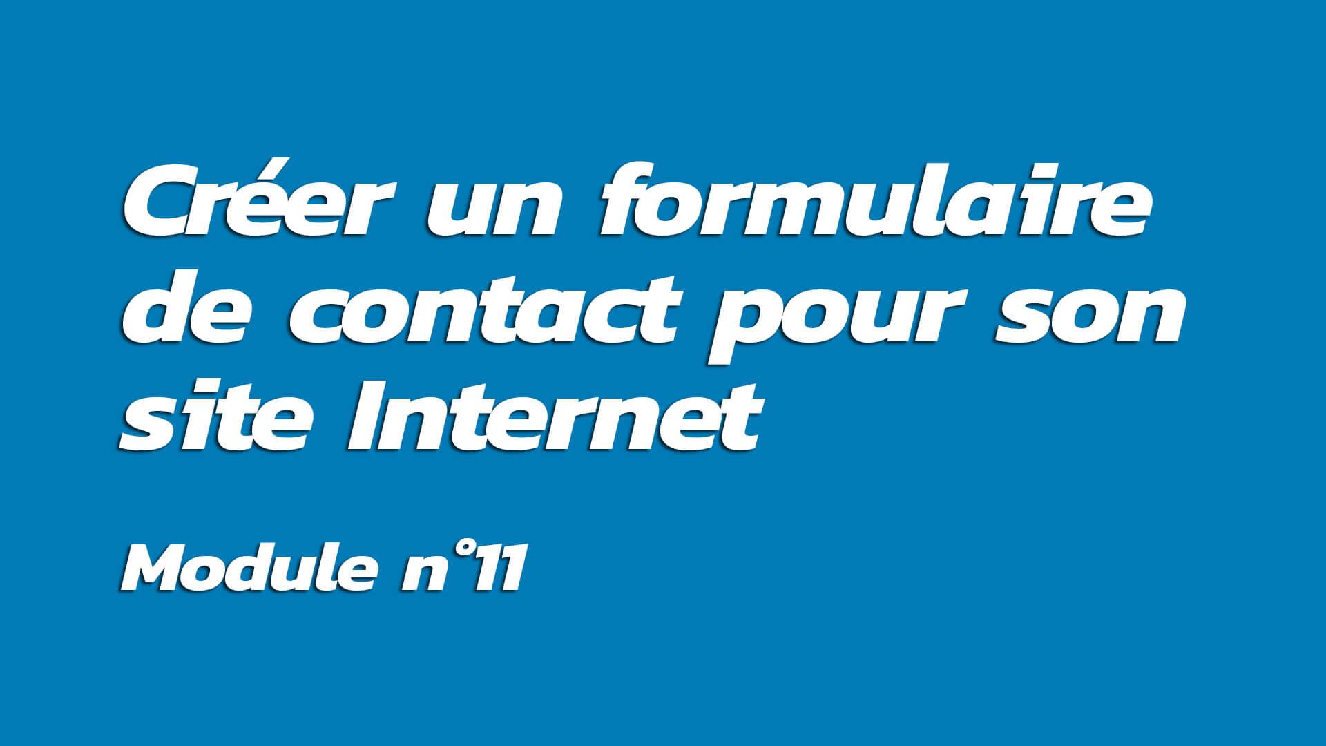 Formation : Créer un formulaire de contact pour son site Internet