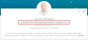 Titre de votre profession dans LinkedIn