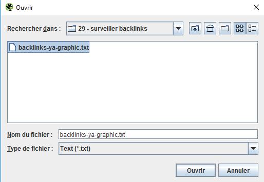 Sélectionner le fichier TXT