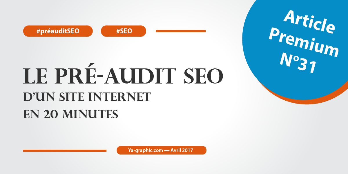 Le pré-audit SEO d'un site Internet