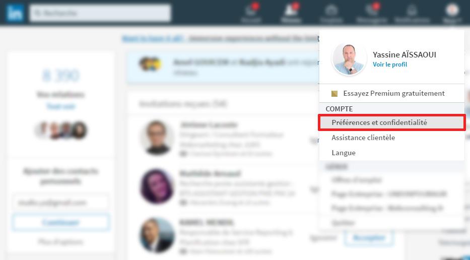 Voici comment être anonyme sur LinkedIn