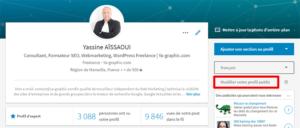 Modifier votre profil public (LinkedIn)