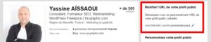 Modifier l'URL de son profil LinkedIn