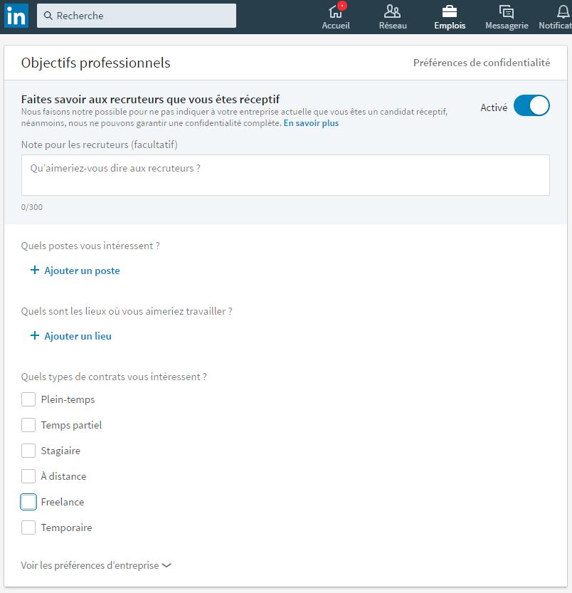 Astuce : se rendre visible des recruteurs sur LinkedIn
